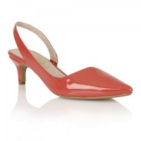 Ravel Beaumont Heeled Pumps Coral Patent