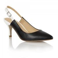 Ravel Brownsville Sling-Back Court Shoes Black White