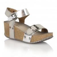 Ravel Tennessee Wedge Sandals Silver Metallic