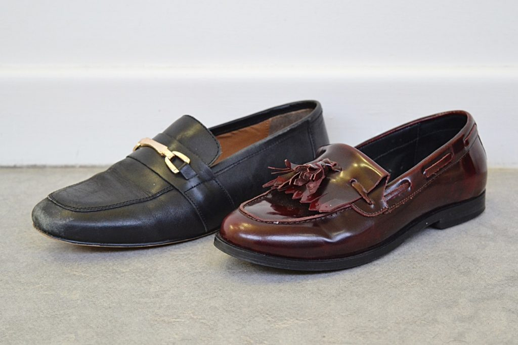 patent matte leather loafers