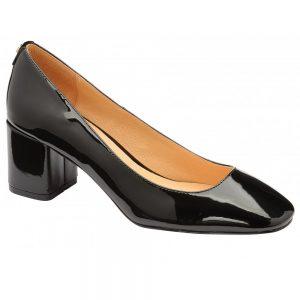 black patent barton block low heel shoes ravel