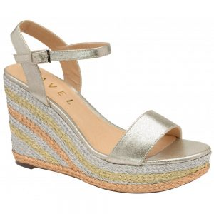 metallic silver wedge heels ravel