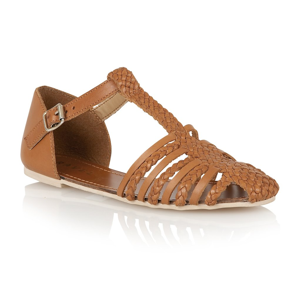 Buy Ravel Ladies Primrose Sandals Online In Tan Leather