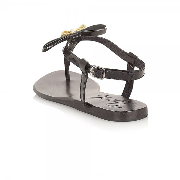 43477551f76 ... Ravel Lola Flat Sandals Black Leather ...