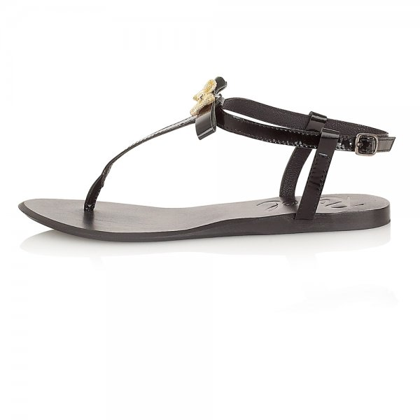 7acde6171eb ... Ravel Lola Flat Sandals Black Leather. ‹