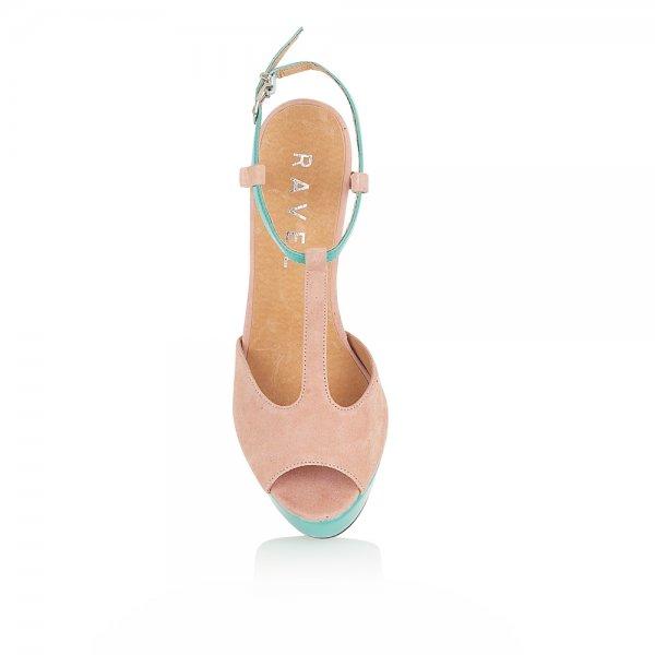 2a96563e08f7 ... Ravel Lauren Platform Sandals Nude Turquoise Purple Suede ...