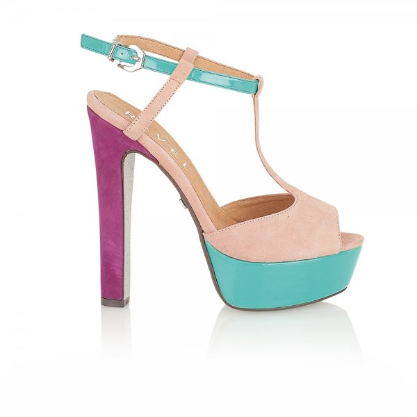 69aa1acf5662 ... Ravel Lauren Platform Sandals Nude Turquoise Purple Suede. ‹
