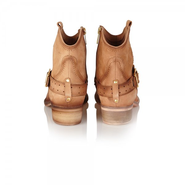 Buy Ravel ladies Anemone ankle boots online in tan leather