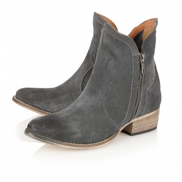 Ravel Alexis Ankle Boots Grey Suede - Ravel from Ravel UK