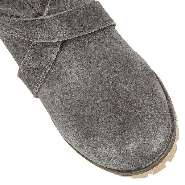 f62d9aa400cd8 Buy Ravel ladies Alaska wedge ankle boots online in grey suede