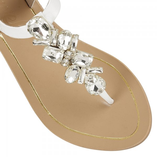 15b1f0f579068 Buy Ravel ladies El Paso flat sandals online in white leather