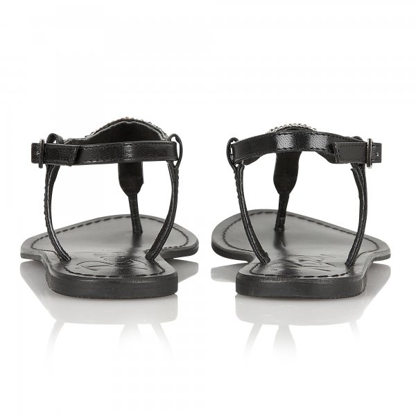 f065f75d69c2 Buy Ravel ladies Huntsville flat sandals online in black leather