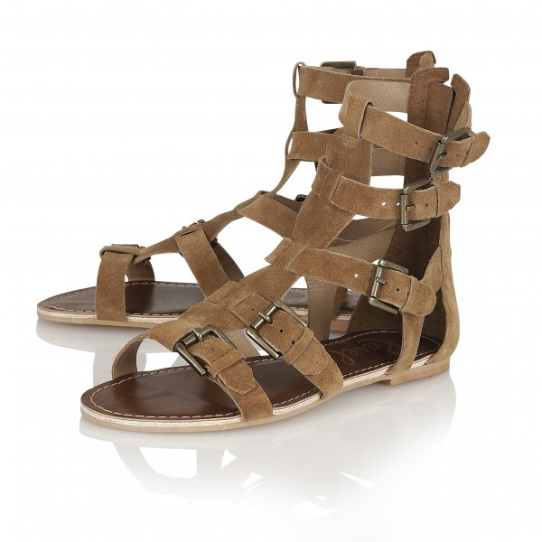 Buy Ravel ladies Los Angeles Gladiator sandals in brown suede 4ade1232f3