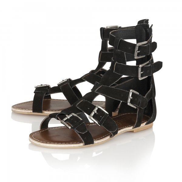 2777aff3a79 Buy Ravel ladies Los Angeles Gladiator sandals in black suede