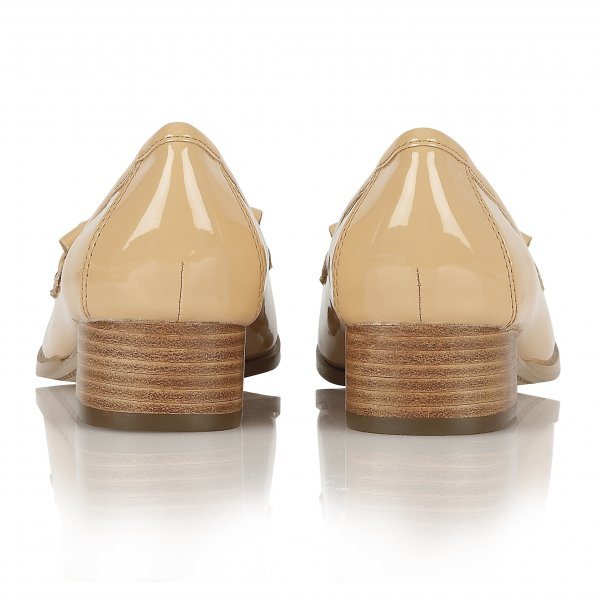 87e34814132 ... Ravel Montgomery Low Heel Loafers Tan Patent ...