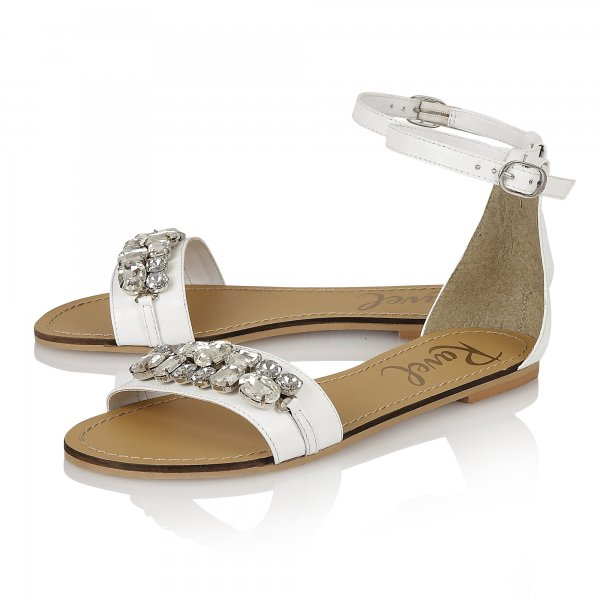 580ad8a5faeb00 Buy Ravel ladies Tulsa flat sandals online in white leather