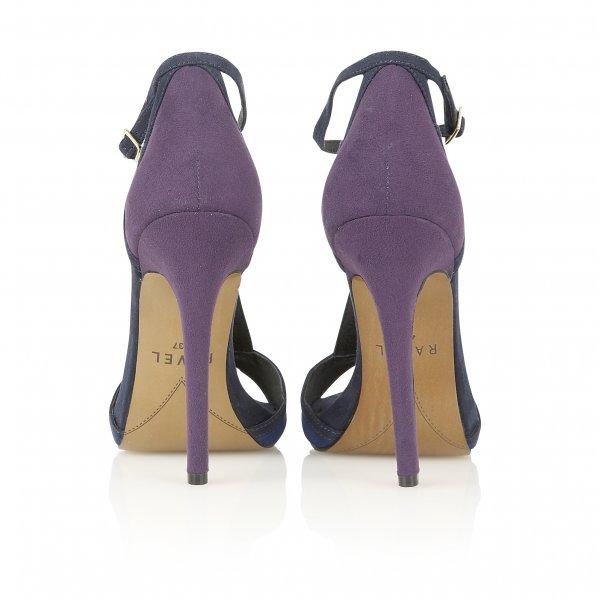 Buy Ravel ladies Wisconsin T-bar heeled sandals online in purple/blue