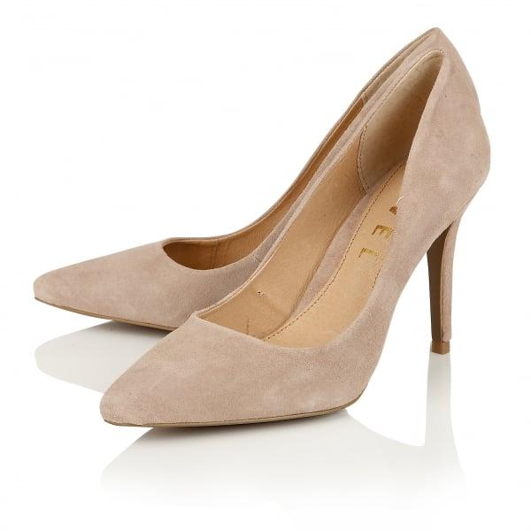 Mink Suede Court Shoes