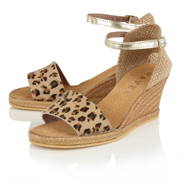 buy ravel lawton wedge sandals in leopard print