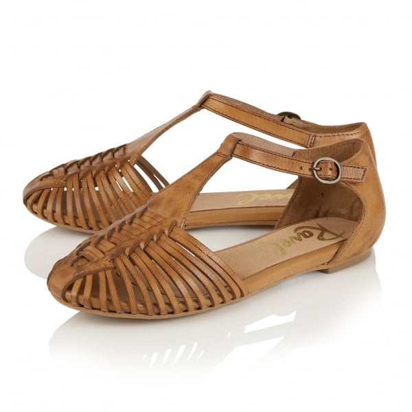 15fc904b9e6a2 Buy Ravel ladies  Springdale flat sandals online in tan leather