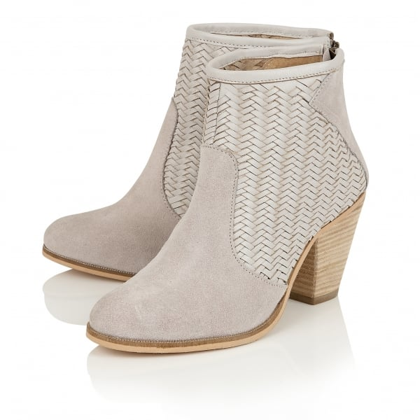 buy ravel queensbury ankle boots in grey suede