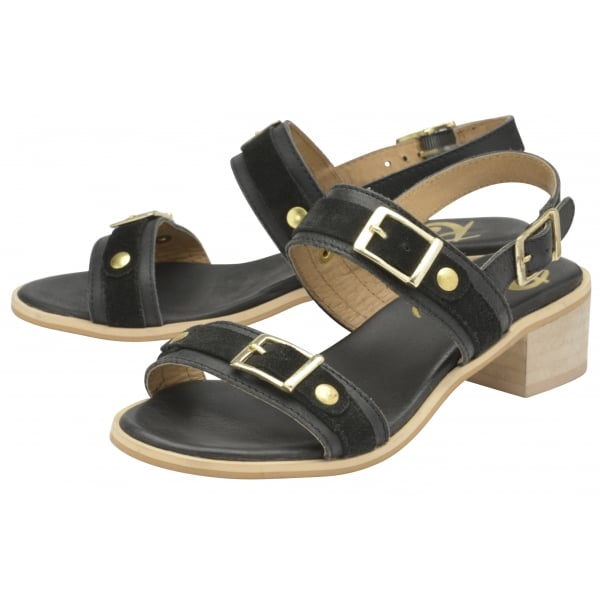 8e257fa6efd Buy Ravel ladies  Sherma heeled sandals online in black leather