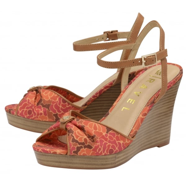 d0f0976e660 Buy V A ladies  Beatrice Wedge Sandals online in red floral