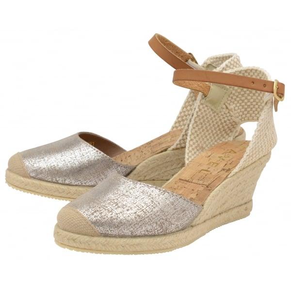 aef2b9133ab2 Buy Ravel ladies  Etna espadrille wedge sandals online in silver