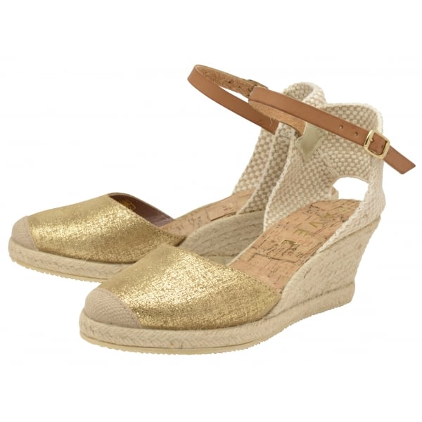 7e200598de4 Buy Ravel ladies  Etna espadrille wedge sandals online in gold
