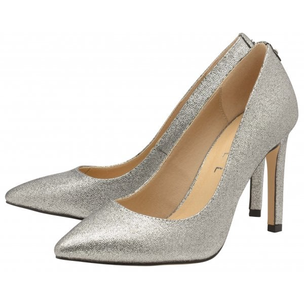 14e20b70f316 Buy Ravel ladies Edson court shoes online in silver sparkle