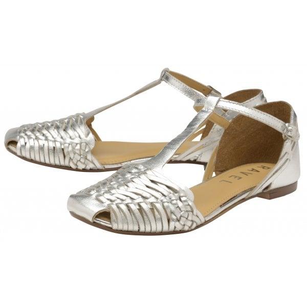 3a295e811 Buy Ravel ladies  Calhoun flat sandals online in silver.