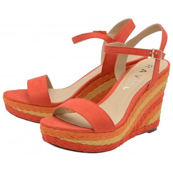 111771a5fbb Buy Ravel ladies  Dixie platform sandals in red online.