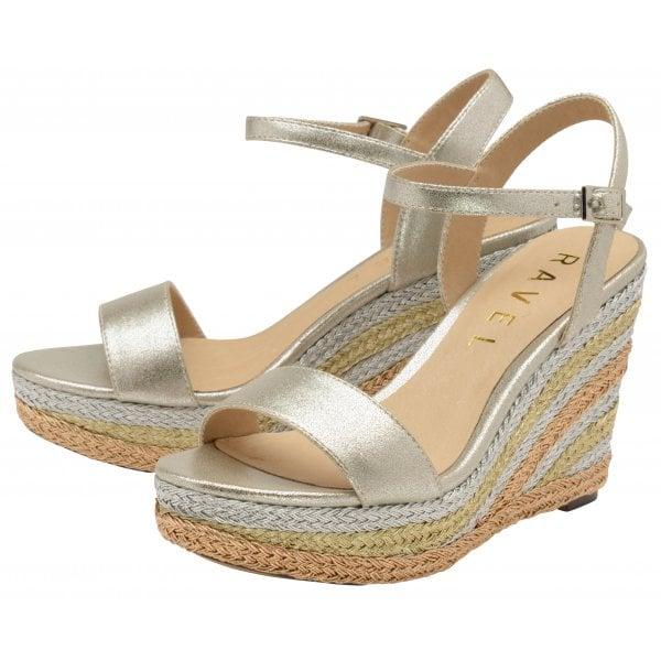 809d87a3fb8 Buy Ravel ladies  Dixie platform sandals in metallic online.