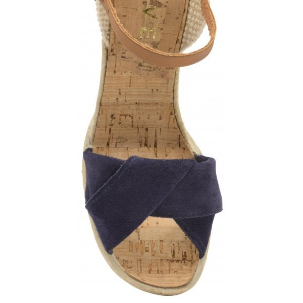 fdbd1e5bdf1 Ravel | Women's Peep-Toe Wedge Sandals | Suede | Palmer | Navy