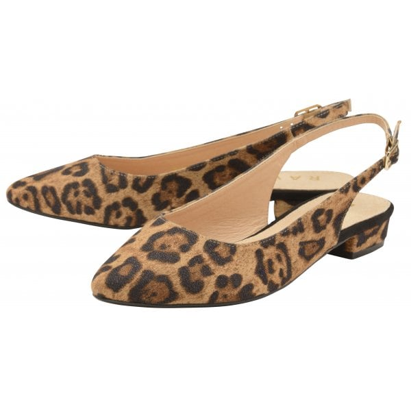 Highlands flat shoes in leopard print