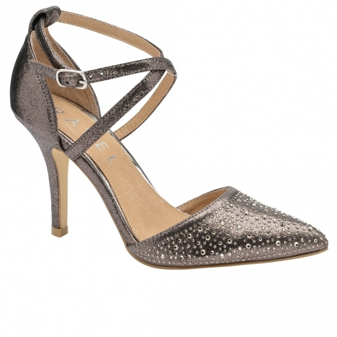 Pewter Rainsville Heeled Pumps | Ravel