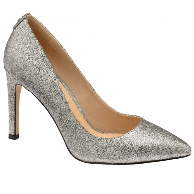 Silver Sparkle Edson Court Shoes | Ravel