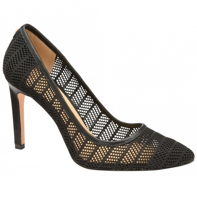 Black Mesh Edson Court Shoes | Ravel
