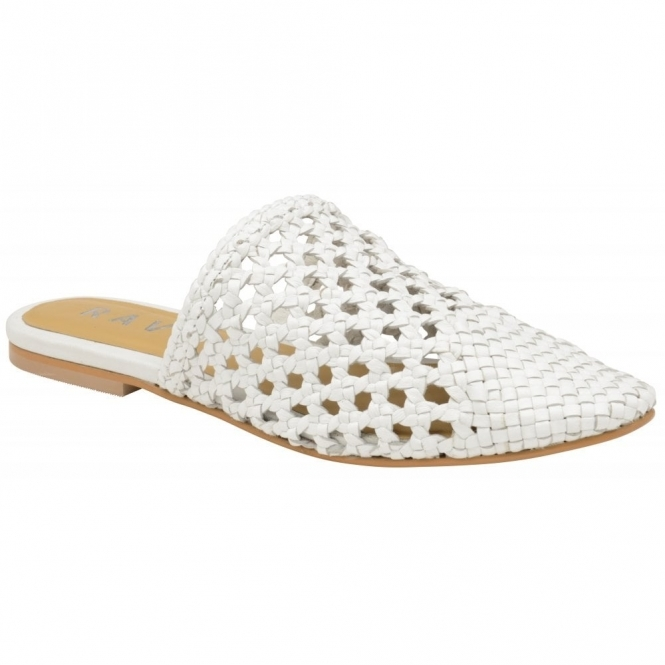 White Inglis Leather Slip-On Shoes | Ravel
