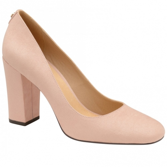 Nude Baldwin Microfibre Court Shoes | Ravel