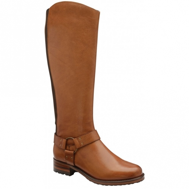 Tan Willowby Leather Knee High Boots | Ravel