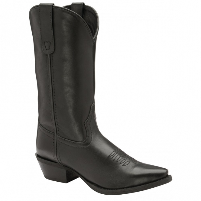 Black Kumara Leather Mid-Calf Boots | Ravel