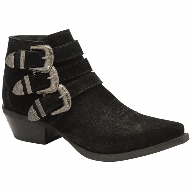 Black Colville Suede Ankle Boots | Ravel
