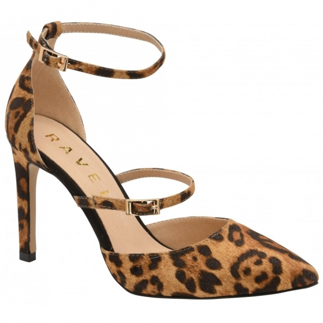 Leopard-Print Doyle Ankle-Strap Court Shoes | Ravel