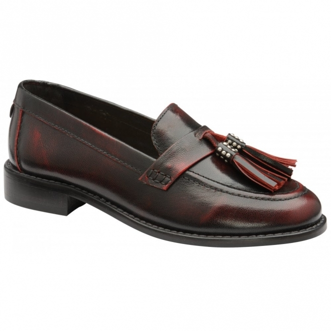 Bordo Levin Patent Leather Low Heel Loafers | Ravel