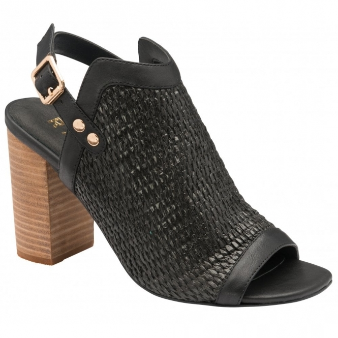 Black Clifton Heeled Sandals | Ravel