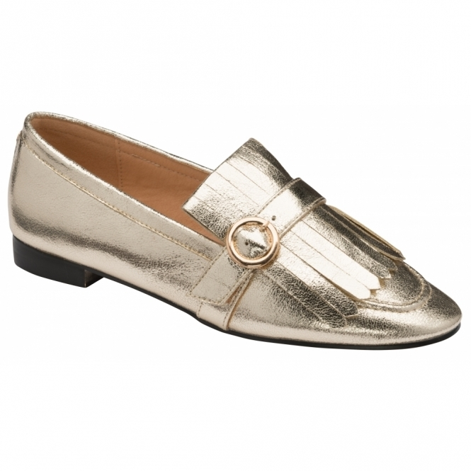 Gold Estrada Loafers | Ravel