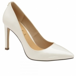 White Edson Patent Court Shoes | Ravel