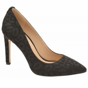 Black Edson Leopard-Print Court Shoes | Ravel
