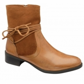 Tan Marshall Leather Ankle Boots | Ravel